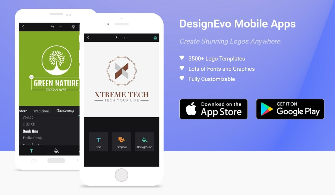 DesignEvo Allows You to Make Logos on the Go!