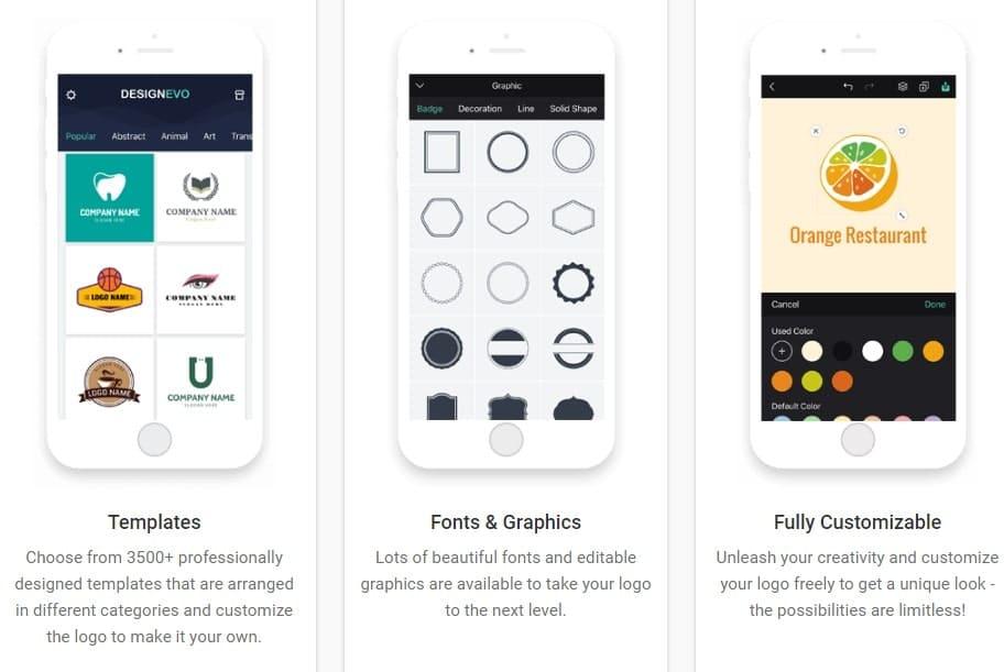 DesignEvo Allows You to Make Logos on the Go!